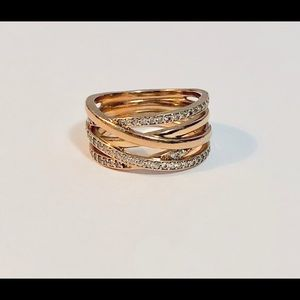 Pandora Entwined Ring in Rose Gold, Size 9
